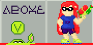 artist:phatkatvg game:splatoon pixel_art vinesauce // 720x352 // 4.6KB