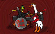 Jabroni_Mike artist:Indy_Film_Productions duck ducks ducksu mike red_vox streamer:vinny // 2400x1500 // 1.1MB