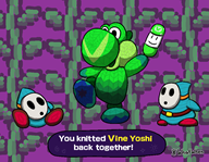 artist:whatwhen game:yoshi's_woolly_world shy_guy streamer:vinny yoshi // 900x700 // 79.9KB