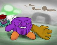 Thanos artist:agasmegnon doodle_dip game:Dreams kirby meat streamer:vinny vineshroom // 888x687 // 561.9KB