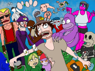 artist:nerobe bonzi_buddy bub_skebulba douk game:lips_of_suna game:off streamer:vinny vinesauce waluigi // 1600x1200 // 1.9MB