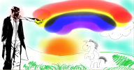 desktop rainbow streamer:revscarecrow sun unicorn // 966x505 // 553.3KB