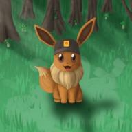 artist:TooBlue eevee game:pokemon_lets_go_eevee pokemon streamer:vinny // 1200x1200 // 1.4MB
