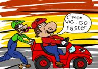 artist:RiXar-Player corruptions game:Mario_Kart_Double_Dash mario speed_luigi streamer:vinny // 2039x1447 // 531.8KB