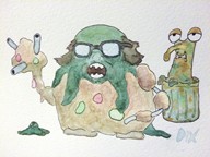 art danny_devito dix frank_reynolds game:earthbound game:pokemon game:pokemon_moon garbage garbodor i_love_dix_ paint physical_media putrid_moldyman streamer:vinny traditional_art trash vinesauce watercolor // 800x600 // 438.9KB