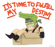 artist:cine box crocodile_cap game:metal_gear_solid_3 snake streamer:vinny // 1000x865 // 386.0KB