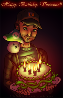 5th_anniversary anniversary artist:nasnumbers birthday cake happy_birthday streamer:vinny vinesauce // 663x1024 // 670.4KB