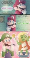 artist:TheMysticalPancake comic game:Mario_and_Luigi_Superstar_Saga luigi mario meat prince_peasley streamer:vinny // 779x1489 // 1.5MB