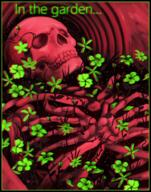 artist:noxmateri in_the_garden red_vox skeleton streamer:vinny // 786x1000 // 994.8KB