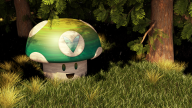 3d artist:ahugepancake forest render themed vineshroom // 1920x1080 // 3.7MB