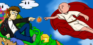 artist:mythi karl_pilkington streamer:vinny the_creation_of_adam // 2000x967 // 966.5KB