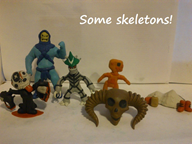 artist:smash3dsplayer2 blood bootleg boots clay felix game:devil_daggers game:felix_the_cat ketchup mustard skeleton skeletor skull streamer:joel super_bone_brothers vineshroom // 778x584 // 130.1KB
