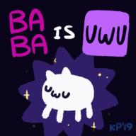 animated artist:WittyUsername game:baba_is_you streamer:vinny uwu // 560x560 // 70.4KB