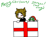 artist:diet-stab christmas present streamer:vinny vineshroom // 1400x1050 // 136.1KB
