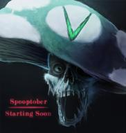 artist:amoralcrow spooptober streamer:vinny vineshroom // 950x1000 // 1.1MB