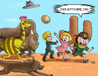 artist:screwdriving game:earthbound jeff ness paula streamer:vinny // 1250x971 // 849.9KB