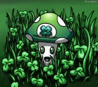 artist:minerplaysbadly clover grass landscape lucky saint_patrick's_day shamrock streamer:vinny vineshroom // 1215x1080 // 1.2MB