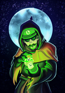 cult_luigi moon spooptober streamer:vinny vineshroom // 1000x1429 // 1.4MB