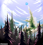 artist:placeholder forest sky vinesauce vineshroom // 960x1000 // 967.2KB