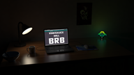 3d artist:gas_station_soda_99c brb darkshroom glow laptop red_vox streamer:vinny vineshroom // 1920x1080 // 1.1MB