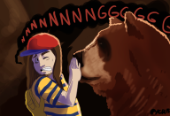 artist:pyrochasm bear game:earthbound streamer:joel // 1000x685 // 2.0MB