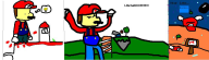 artist:zen6636 game:super_mario_64 game:super_mario_64_chaos_edition mario ms_paint streamer:vinny // 990x284 // 53.8KB