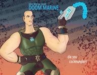 artist:rd_nx blue game:doom streamer:vinny // 2550x2000 // 4.8MB