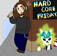artist:pastelpolarbearss blood hardcore_friday streamer:joel vineshroom // 1570x1542 // 778.5KB