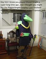 cosplay plague_knight shovel_knight streamer:vinny vinesauce // 1960x2496 // 7.5MB