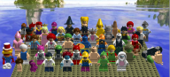 artist:profoatmeal cling_on game:tomodachi_life groose hailey_bluetawn hamburger hotdog issac lego levi peach ralph_bluetawn skelorita sponge streamer:vinny vineswole vlinny walrus waluigi wario witch // 1595x723 // 1.1MB