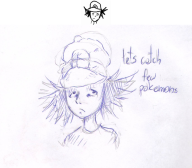 artist:cats_everywhere ash_ketchum cap game_and_wario miiverse_sketch paper_drawing pokemon streamer:vinny // 634x557 // 181.7KB