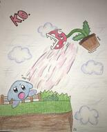 artist:emma31503 game:super_smash_bros_Ultimate kirby piranha_plant rubberross streamer:vinny // 1036x1280 // 412.8KB