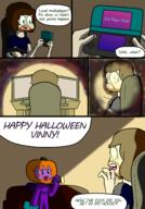3ds Halloween artist:sophinox chat comic streamer:vinny // 1750x2500 // 1.2MB