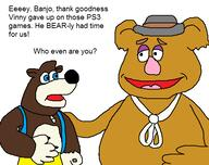 Fozzie_Bear Muppets_CD_Rom artist:lamango banjo banjo_kazooie game:The_Legend_of_Banjo-Kazooie:_Gruntilda's_Mask game:muppets_inside streamer:vinny // 539x427 // 22.9KB