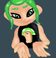 artist:aeki game:splatoon_2 meat mem_cake octoling streamer:vinny // 500x513 // 272.5KB