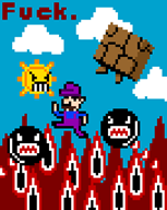 artist:xandre chain_chomp game:mario_randomized game:super_mario_bros_3 pixel streamer:vinny vinesauce // 680x850 // 7.4KB