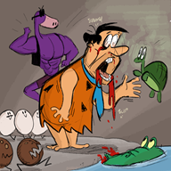 artist:knoxrobbins dos_games fred_flintstone game:franko streamer:vinny the_flintstones // 1000x1000 // 587.9KB
