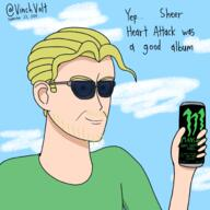 Boomer Energy_Drink artist:vinchvolt game:sims_4 game:the_sims jojo's_bizarre_adventure meme monster streamer:joel yoshikage_kira // 2000x2000 // 1.5MB