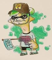 Splatoon artist:Ennuikal game:splatoon_2 meme streamer:vinny traditional // 1432x1634 // 444.2KB